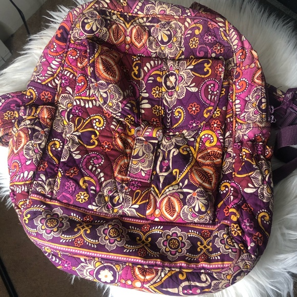 Vera bradley paisley medallion pattern backpack
